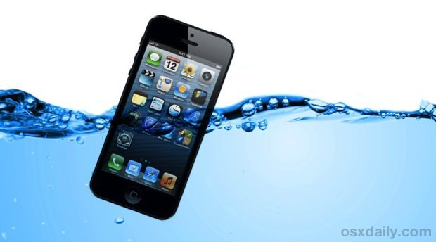 iPhone fiel in Wasser