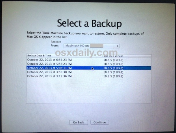 select-backup-für-downgrade-mac-os-x