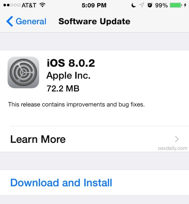 iOS 8.0.2 OTA-Download