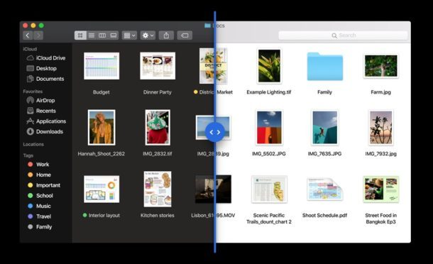 Dunkler Modus in macOS Mojave