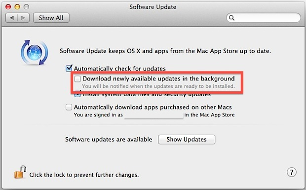 Stoppen Sie automatische App-Downloads und Updates in OS X Mountain Lion