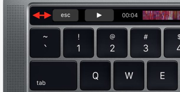 Escape Key Lückeneinzug Touch Bar